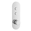 Hudson Reed Ignite Round Two Outlet Push-Button Thermostatic Shower Valve Chrome - CPB1311 profile small image view 1