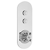 Hudson Reed Topaz Traditional Two Outlet Push-Button Shower Valve - CPB5311 profile small image view 1