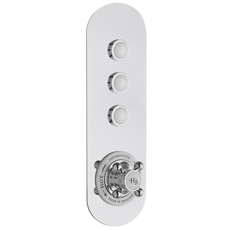 Hudson Reed Topaz Traditional Three Outlet Push-Button Shower Valve - CPB5312