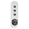 Hudson Reed Topaz Black Traditional Three Outlet Push-Button Shower Valve - CPB6312 profile small image view 1