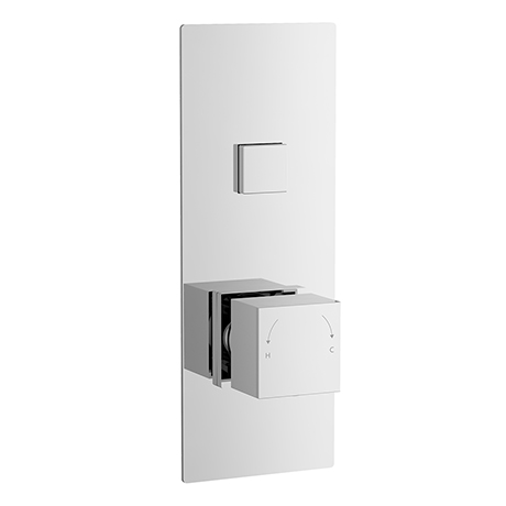 Nuie Square Push Button Valve - One Outlet - CPB7310