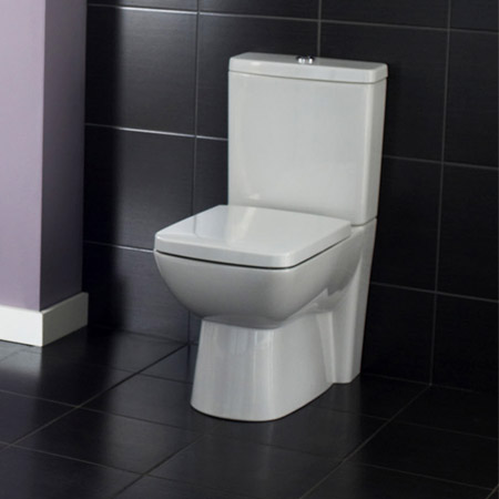 Hudson Reed - Compact Close-Coupled Toilet inc Soft-Close Seat profile large image view 3