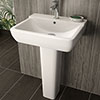 Hudson Reed Arlo 550mm 1TH Basin + Full Pedestal profile small image view 1