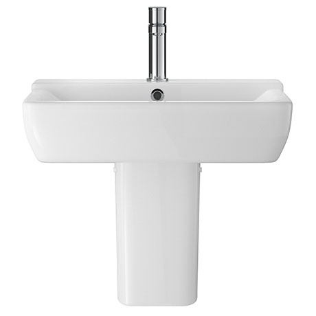 Hudson Reed Arlo 550mm 1TH Basin + Semi Pedestal