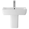 Hudson Reed Arlo 550mm 1TH Basin + Semi Pedestal Small Image