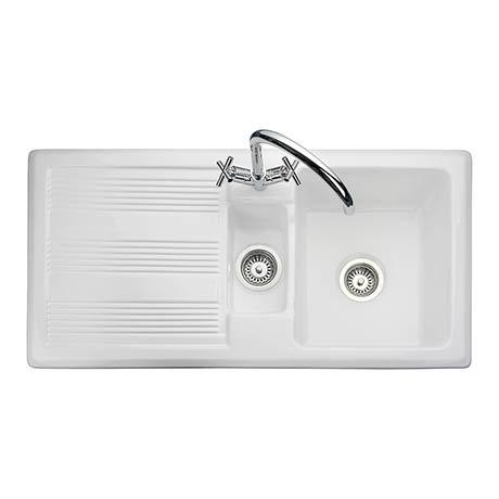 Rangemaster Portland 1.5 Bowl Ceramic Kitchen Sink