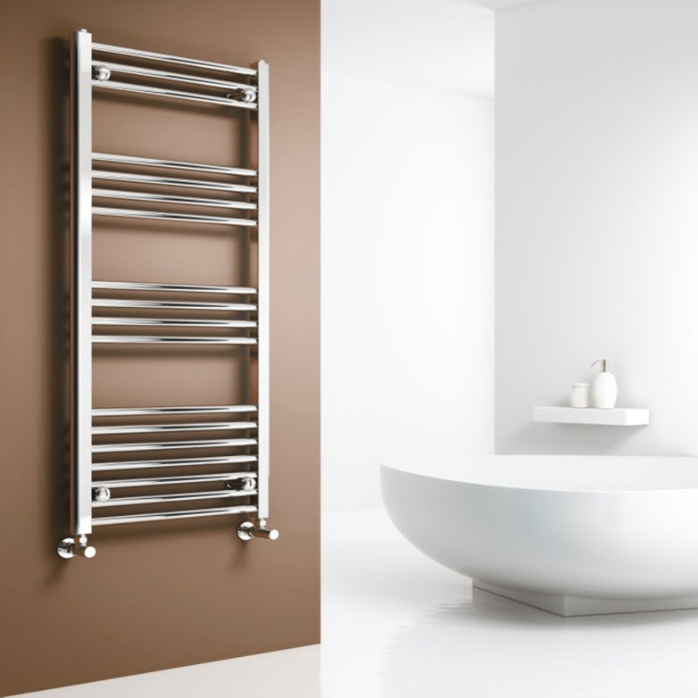Reina Capo Flat Towel Rail - Chrome Profile Large Image