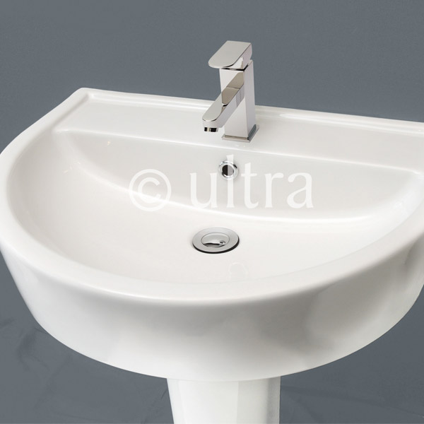 Ultra - Priory 600 Basin 1TH & Semi Pedestal - CPR001 Profile Large Image