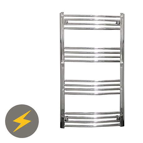 Reina Capo H800 x W400mm Chrome Curved Electric Towel Rail
