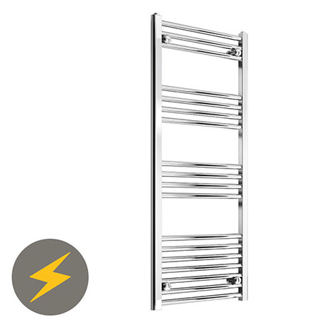Reina Capo H800 x W400mm Chrome Flat Electric Towel Rail