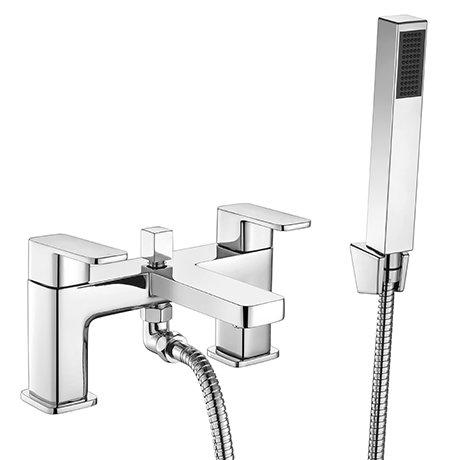 Turin Modern Chrome Bath Shower Mixer Tap Inc. Shower Kit - CPT7131