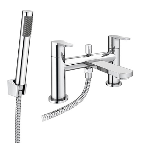 Brooklyn Modern Chrome Bath Shower Mixer Tap Inc. Shower Kit - CPT7181