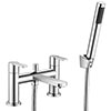 Brooklyn Modern Chrome Bath Shower Mixer Tap Inc. Shower Kit - CPT7181 profile small image view 1