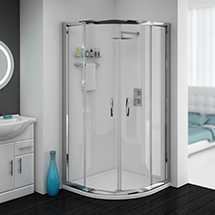 Cove Quadrant Shower Enclosure with Tray + Waste (2 Size Options) Medium Image