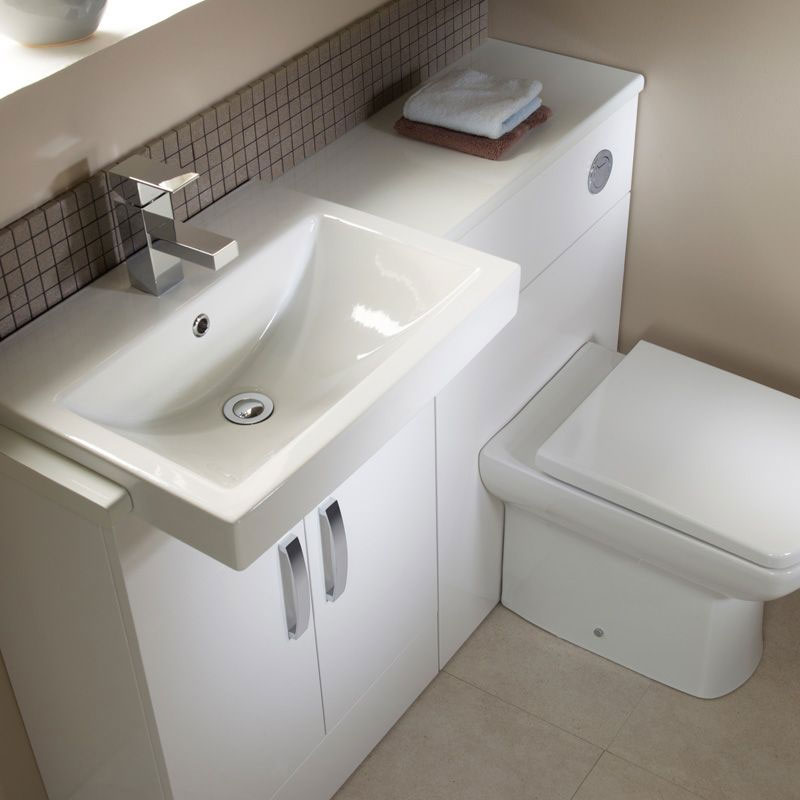Tavistock Courier 600mm Semi-Countertop Unit & Basin - Gloss White profile large image view 3