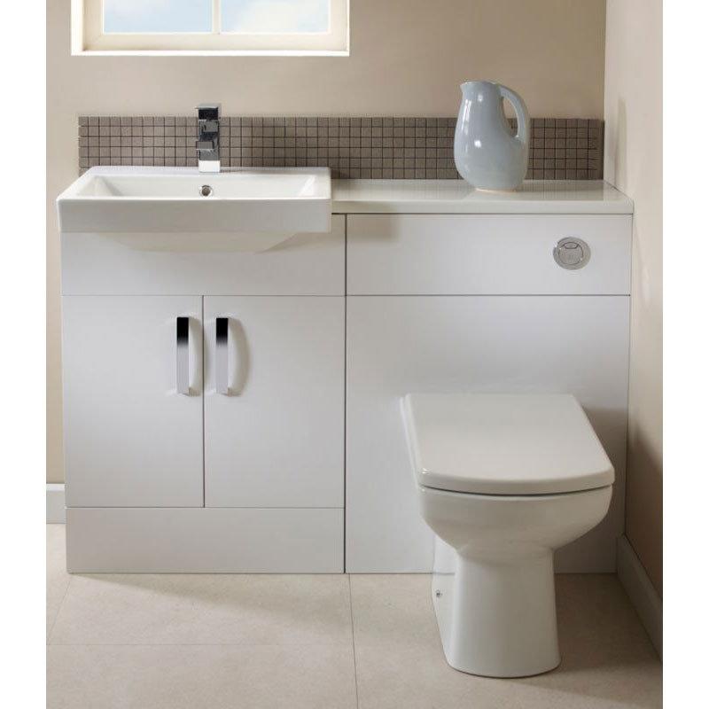 Tavistock Courier 600mm Semi-Countertop Unit & Basin - Gloss White profile large image view 4