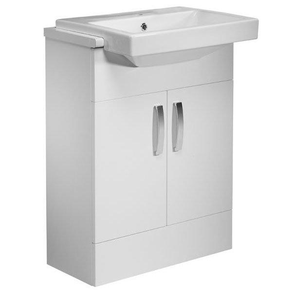 Tavistock Courier 600mm Semi-Countertop Unit & Basin - Gloss White profile large image view 1