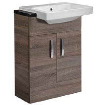Tavistock Courier 600mm Semi-Countertop Unit & Basin - Havana Oak Medium Image