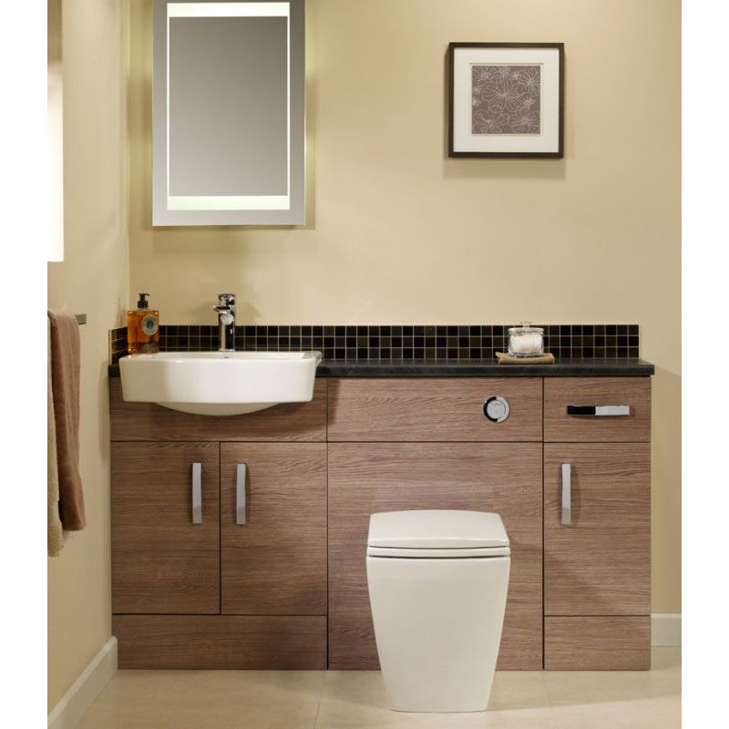 Tavistock Courier 600mm Semi-Countertop Unit & Basin - Montana Gloss profile large image view 4