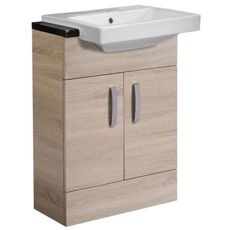 Tavistock Courier 600mm Semi-Countertop Unit & Basin - Oregon Oak