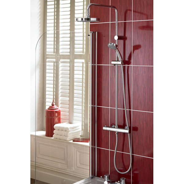 Bristan - Carre Exposed Fixed Head Bar Shower with Diverter & Kit Profile Large Image