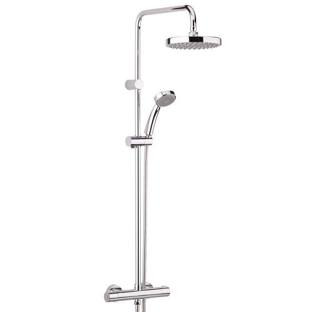 Bristan - Carre Exposed Fixed Head Bar Shower with Diverter & Kit Large Image