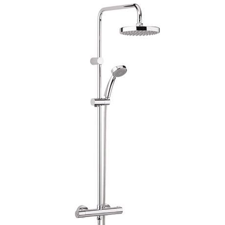 Bristan - Carre Exposed Fixed Head Bar Shower with Diverter & Kit
