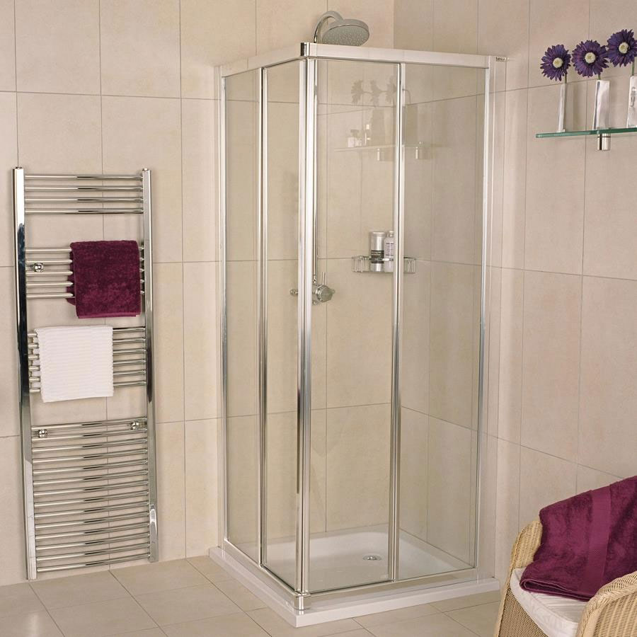 Roman Collage Corner Entry Shower Enclosure Large Image