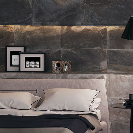 Carina Slate Effect Wall Tiles - Anthracite - 307 x 607mm