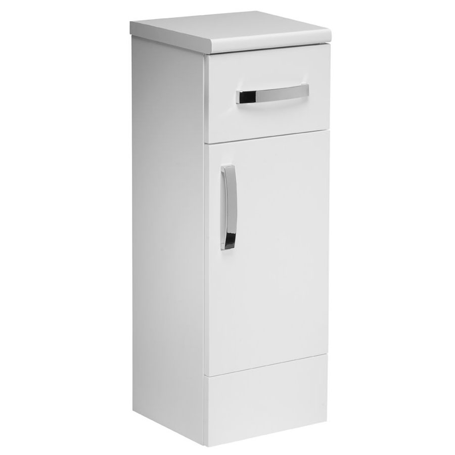 Tavistock Courier 300mm Freestanding Storage Unit - Gloss White profile large image view 1
