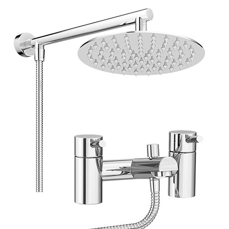 Cruze Contemporary Bath Shower Mixer Inc. Overhead Rainfall Shower Head