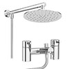 Cruze Contemporary Bath Shower Mixer Inc. Overhead Rainfall Shower Head profile small image view 1