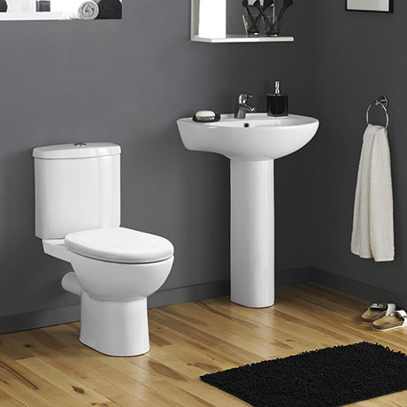 Cove Rimless 4-Piece Modern Bathroom Suite