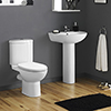 Cove Rimless 4-Piece Modern Bathroom Suite profile small image view 1