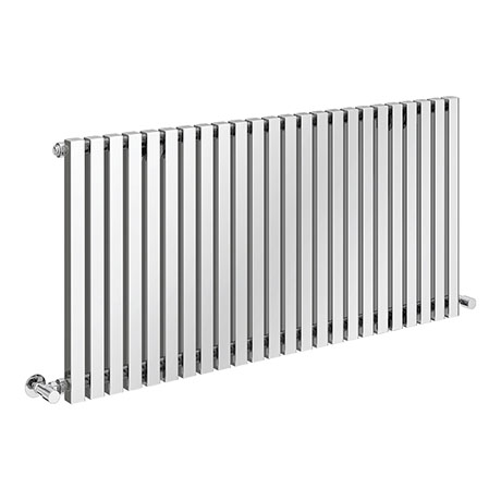 Alaska Modern 600 x 1200 Horizontal Chrome Square Radiator 24 Tubes