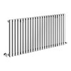 Alaska Modern 600 x 1200 Horizontal Chrome Square Radiator 24 Tubes profile small image view 1