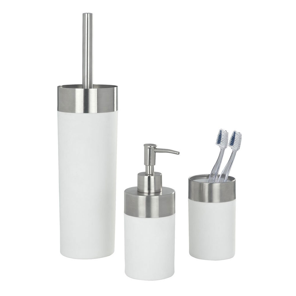 Wenko Creta Bathroom Accessories Set - White Large Image
