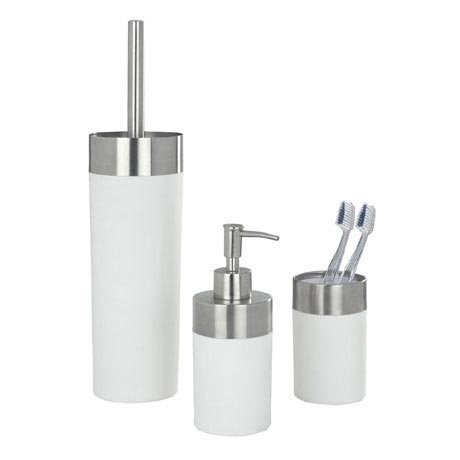 Wenko Creta Bathroom Accessories Set - White