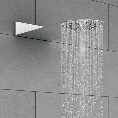 Cruze Round Flat Fixed Shower Head (200 x 480mm)
