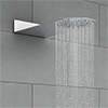 Cruze Round Flat Fixed Shower Head (200 x 480mm) profile small image view 1