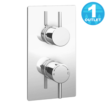 Cruze Twin Round Concealed Shower Valve - Chrome Medium Image