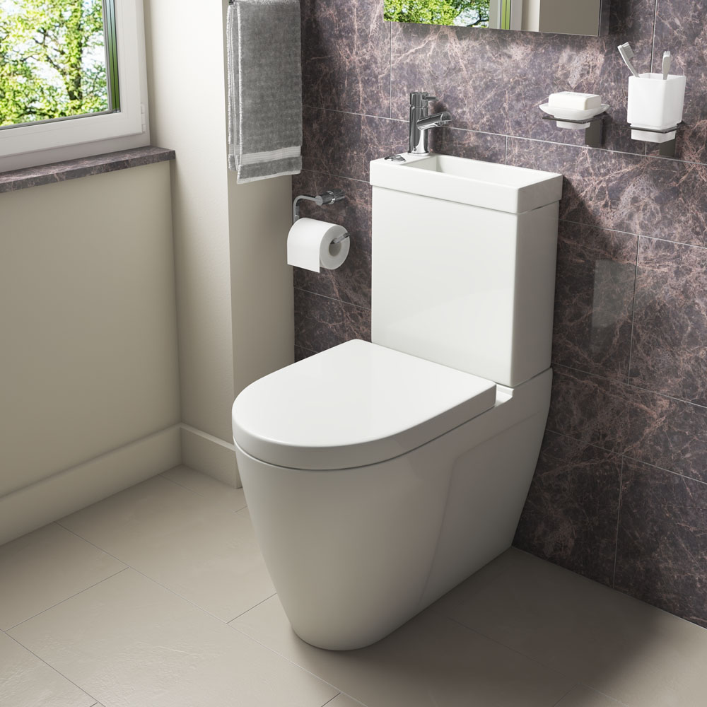 Iconic Combined Two-In-One Wash Basin + Toilet (Inc. Tap & Waste)