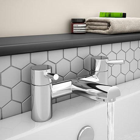 Cruze Modern Bath Taps - Chrome