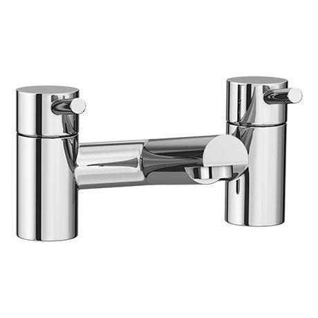 Cruze Modern Bath Taps - Chrome