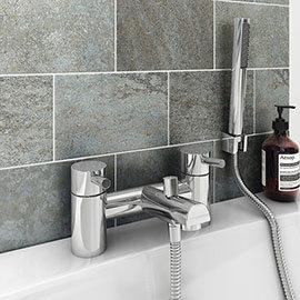 Cruze Contemporary Bath Shower Mixer with Shower Kit - Chrome