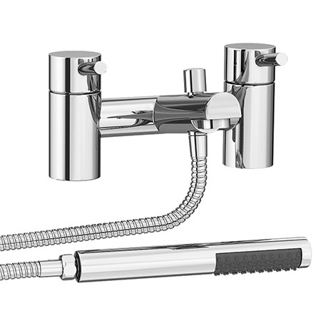 Cruze Contemporary Bath Shower Mixer with Shower Kit - Chrome