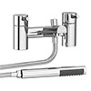 Cruze Contemporary Bath Shower Mixer with Shower Kit - Chrome profile small image view 1