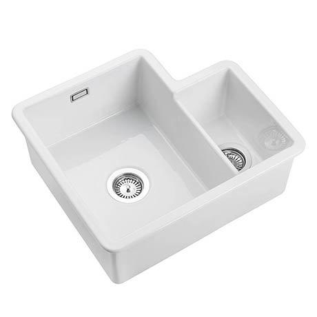 Rangemaster Rustique 1.5 Bowl Ceramic Kitchen Sink 595 x 520mm