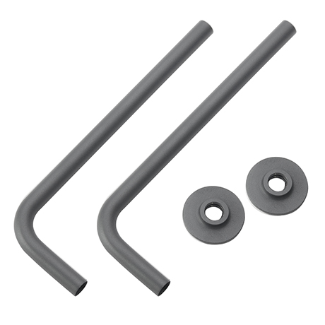 Curved Angled Anthracite Brass Tubes with Wall Plates for Radiator Valves (Pair)
