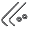 Curved Angled Anthracite Brass Tubes with Wall Plates for Radiator Valves (Pair) profile small image view 1